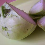 Smetanový kedlubnový salát recept