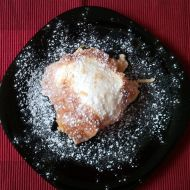 Rýžový nákyp s jablky a piškoty recept