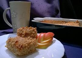 Bezlepková ovesná sypaná buchta s jablky recept
