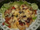Kuřecí křídla na zelenině pod dvěma sýry recept