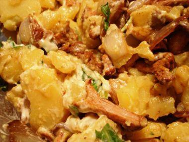 Recept Bramborový salát s liškami