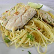 Jemně pikantní pstruh na česneku recept