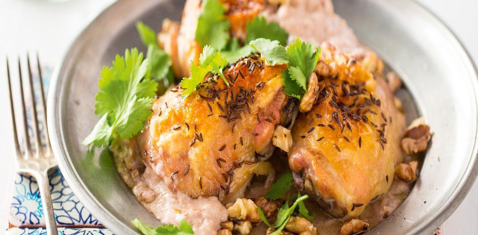 Kuře v ořechové omáčce