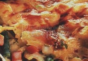 Špagety zapečené se zeleninou