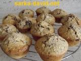 Hruškové muffiny s čokoládou recept