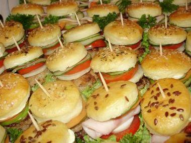 Obložené hamburgry