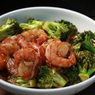 Smažené krevety s brokolicí recept