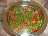 Fazolkovo  rajčatový salát recept