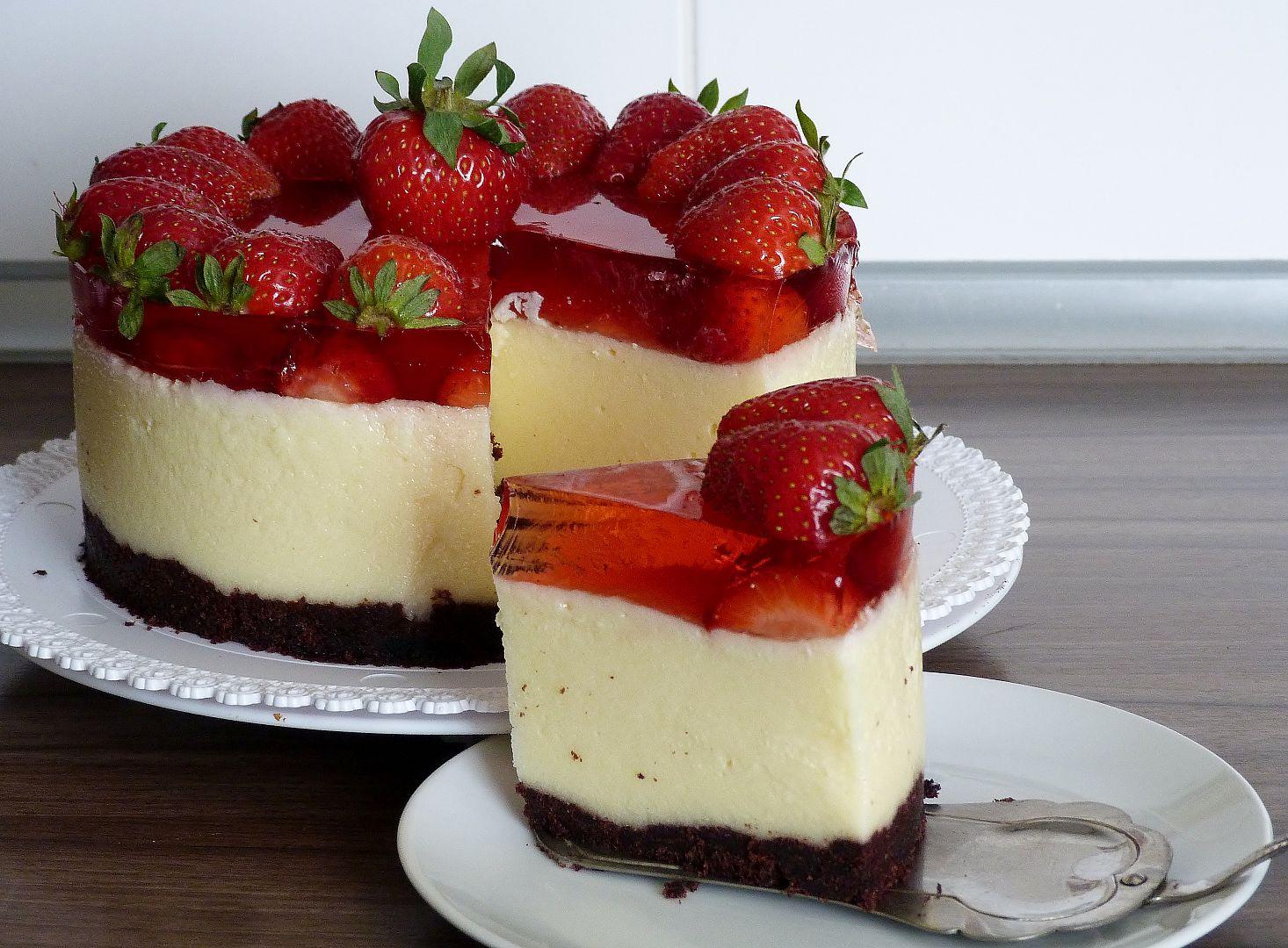 Krupicovopudinkový letní dort recept