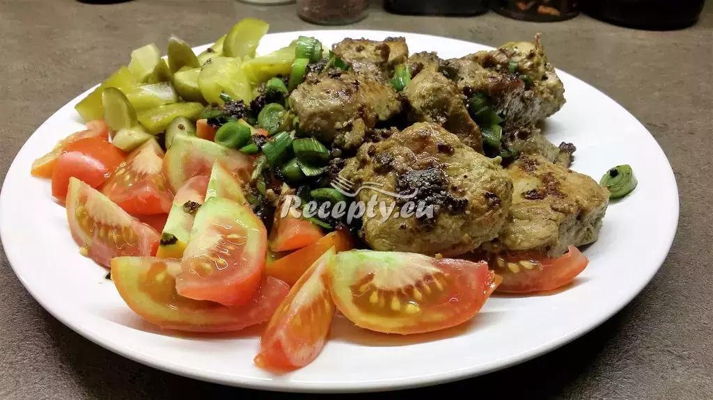 Ohnivé maso recept  hovězí maso