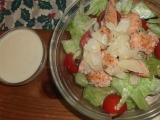 Zeleninový salát s lososem a parmezánovou omáčkou recept ...