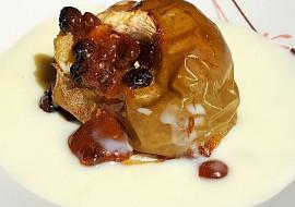 Pečené jablko s vanilkovým přelivem recept