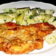 Smažený telecí řízek s novými brambory recept