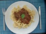 Boloňská omáčka s těstovinami (vřeteny) recept