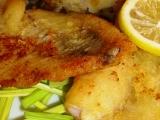 Okouník mořský na pórkové slámě recept