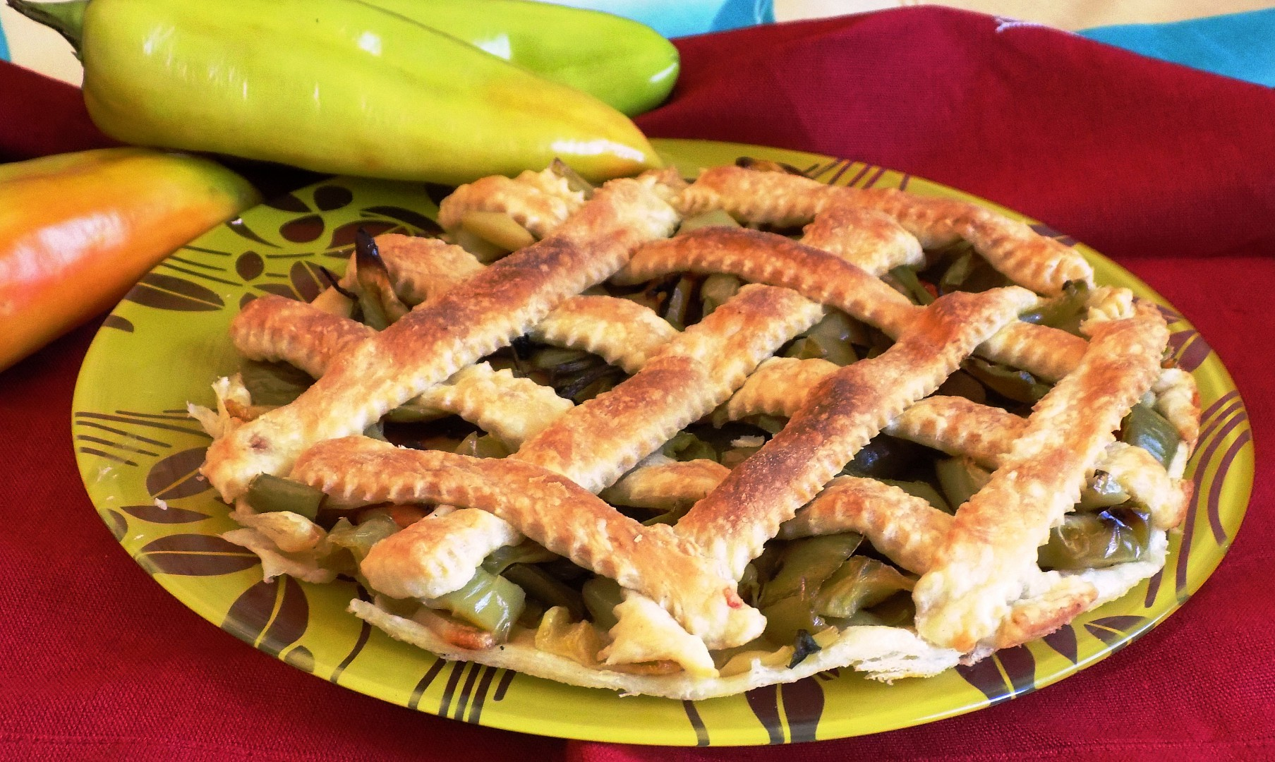 Paprikový koláč z listového těsta recept