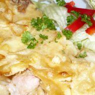 Vepřové maso zapečené v sýrové omáčce recept