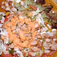 Salát s masem a sýrem recept