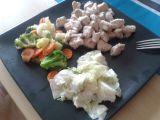 Nudličky z krůtího masa a se zeleninou recept