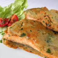 Lososovitý pstruh smažený v česnekovém obalu recept