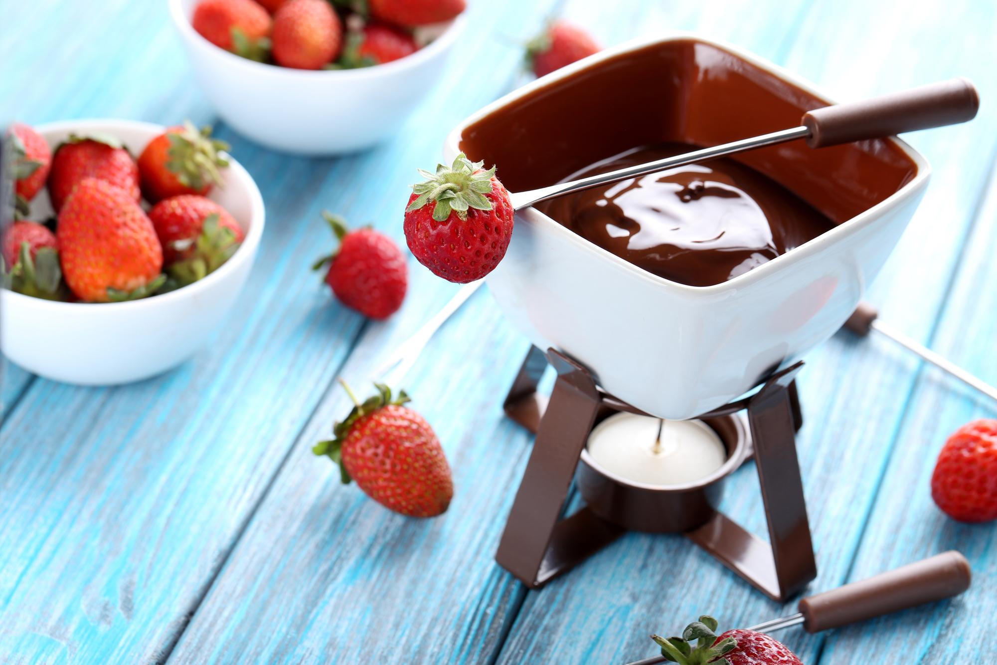 Chilli čokoládové fondue recept