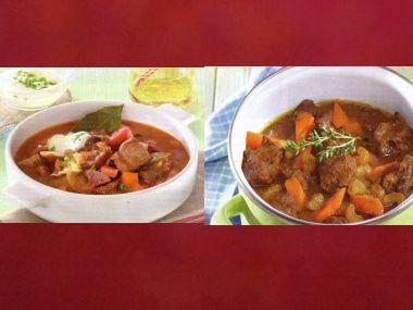 Sváteční oběd 37  Masová polévka a Skopové na zázvoru