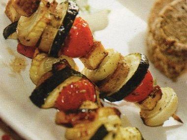 Večeře 74  Zeleninový špíz na grilu