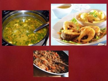 Sváteční oběd 42  Polévka rybí a Štika