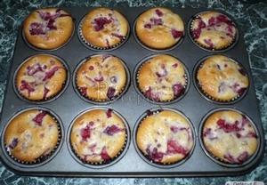 Malinovo-jahodové muffiny