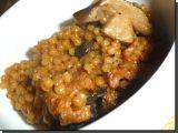 Tarhoňa s kuřecím masem na houbách recept