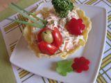Parmezánové misky se zeleninovým salátem recept