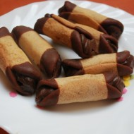 Medové trubičky plněné čokoládovým krémem recept