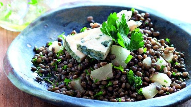 Salát ze zelené čočky