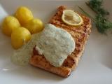 Grilovaný losos s koprovým přelivem recept