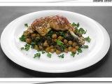 Kuře pečené na cizrně s hříbky recept