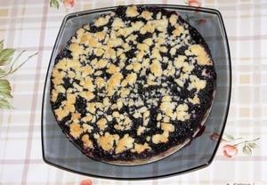 Drobenka  koláč s pudinkem a ovocem