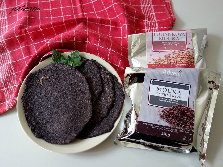 Palačinky z černé rýže a pohanky recept