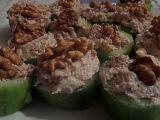 Okurkové jednohubky s tuňákem recept