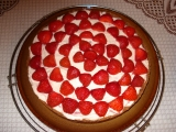 Tvarohový dort s jahodami recept