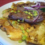 Roštěná na selské omeletě recept