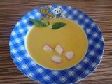 Krémová mrkvová polévka s krabím masem recept