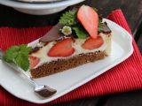 Tvarohový dort Míša s jahodami recept