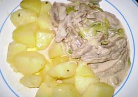 Sojové nudličky na smetaně s hořčicí a pórkem  vegan recept ...