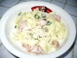 Nudlový salát s uzenou šunkou recept