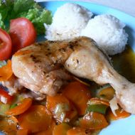 Sladké kuře se zeleninou recept