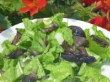 Salát z mangoldu a hub recept