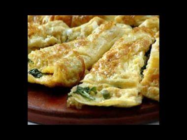 Špenátová omeleta mixovaná
