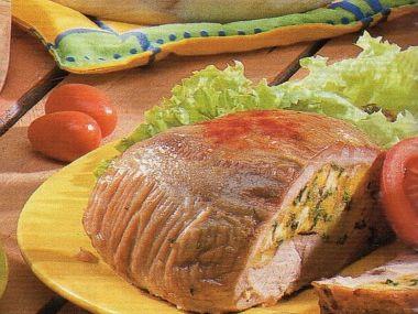 Nadívané telecí se salátem