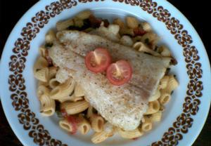 Ryba s těstovinami