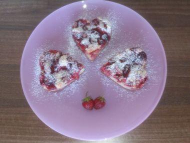 Jogurtový koláč s jahodami